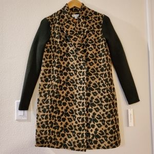 Kenneth Cole Leopard Trench coat!!